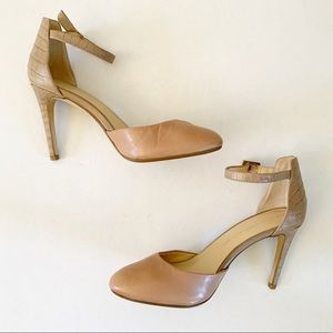 Banana Republic | Caelyn Nude leather Ankle heels